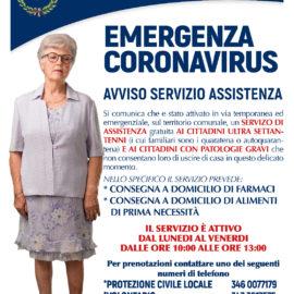 EMERGENZA CORONAVIRUS – Avviso Servizio Assistenza